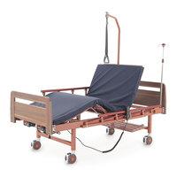 Кровать электрическая DB-7 (МЕ-2028Д-00) 2 функции, с матрасом (коричневый)
