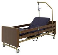 Кровать электрическая Мед-Мос YG-1 (КЕ-4024М-21) 5 функций, ЛДСП коричневый, с матрасом