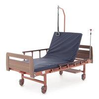 Кровать механическая Мед-Мос Е-17В (MМ-1024Д-04)(У) с матрасом, коричневый
