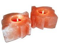 Солевой подсвечник ЛИСТИК по 1 шт в мешочке (1-1,2 кг)