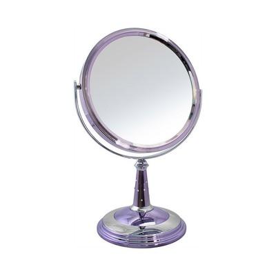 Зеркало настольное косметическое 153518 никель/хром с кристаллами