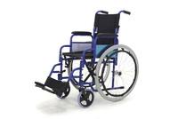 Кресло-коляска механическая FS909(МК-011/41)стальная (41см) пневмо колёса, синяя